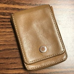 Coach leather card pouch/case